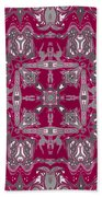 Rubies And Silver Kaleidoscope Beach Towel