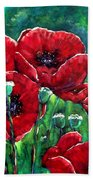 Rubies In The Emerald Forest Beach Towel