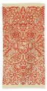 Rubino Red Floral Beach Towel