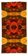 Ruby Crystal Pattern Beach Towel