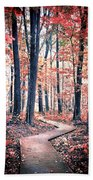 Ruby Forest Beach Towel