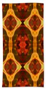 Ruby Glow Pattern Beach Towel
