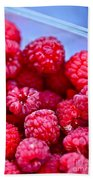 Ruby Raspberries Beach Towel