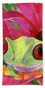Ruby The Red Eyed Tree Frog Beach Towel