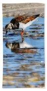 Ruddy Reflection Beach Towel