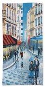 Rue De La Huchette, Paris 5e Beach Towel