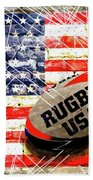 Rugby Football  Beach Towel