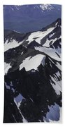 Rugged Mountain Peaks Beach Towel