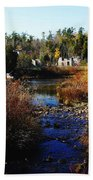 Ruins In Autumn Beach Towel