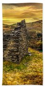Ruins Of Snowdonia Panorama Beach Towel