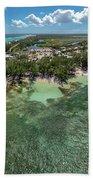 Rum Point Beach Panoramic Beach Towel