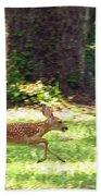 Run Bambi Run Beach Towel