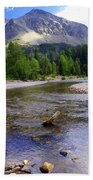 Running Eagle Creek Glacier National Park Beach Towel