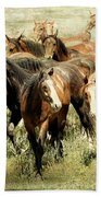 Running Free Horses IIi Beach Towel
