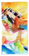 Running Horses Color Beach Towel