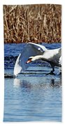 Running On Water I Beach Towel