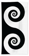Running Spirals Beach Towel
