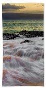 Running Wave At Keawakapu Beach Beach Towel