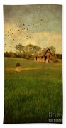 Rural Cottage Beach Towel by Jill Battaglia