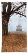 Rural Farmhouse And Large Tree Beach Sheet