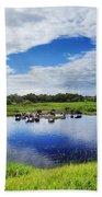 Rural Landscape Beach Towel