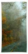 Rural Road In North Carolina With Autumn Colors Beach Towel