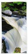 Rushing Water On A Mountain Stream Beach Towel