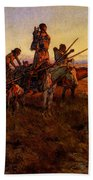 Russell Charles Marion In The Wake Of The Buffalo Hunters Beach Towel