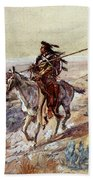 Russell Charles Marion Indian With Spear Beach Towel