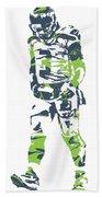 Russell Wilson Seattle Seahawks Pixel Art 11 Beach Towel