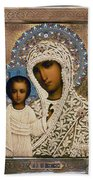Russian Icon: Mary Beach Towel
