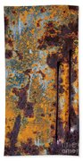 Rust Abstract Car Part Beach Towel
