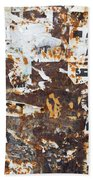 Rust And Torn Paper Posters Beach Towel