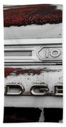 Rust Dodge 6 Selective Color Beach Towel