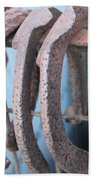 Rusted Shoes Beach Towel