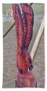 Rustic Eagle 2 Beach Towel