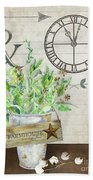 Rustic Farmhouse Our Happy Place Beach Towel