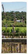 Rustic Fence In Wine Country Beach Towel