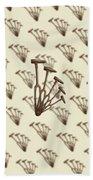 Rustic Hammer Pattern Beach Towel