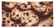 Rustic Kitchen Cookie Art Beach Sheet