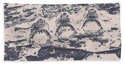 Rustic Nautical Artwork Beach Towel