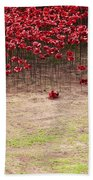 Rustic Poppy Garden Beach Towel