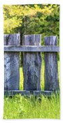Rustic Wooden Fence At Old World Wisconsin Beach Towel