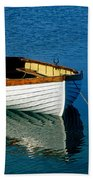 Rustic Wooden Row Boat. Beach Towel