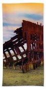 Rusting Shipwreck Beach Sheet