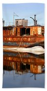Rusty Barge Beach Sheet