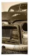 Rusty But Trusty Old Gmc Pickup Beach Towel by Gordon Dean II