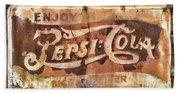 Rusty Pepsi Cola Beach Towel