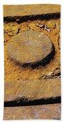 Rusty Texture Macro Beach Towel