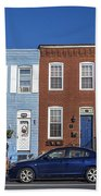 S Baltimore Row Homes - Wide Beach Towel